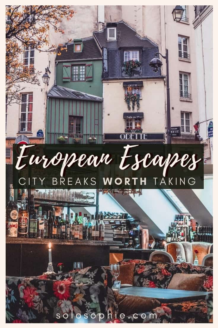 City Breaks in Europe You'll Want to Take. Weekend breaks and short city excursions in Europe you'll love: Zurich, Verona, Bath, Anvers, Paris, and more!