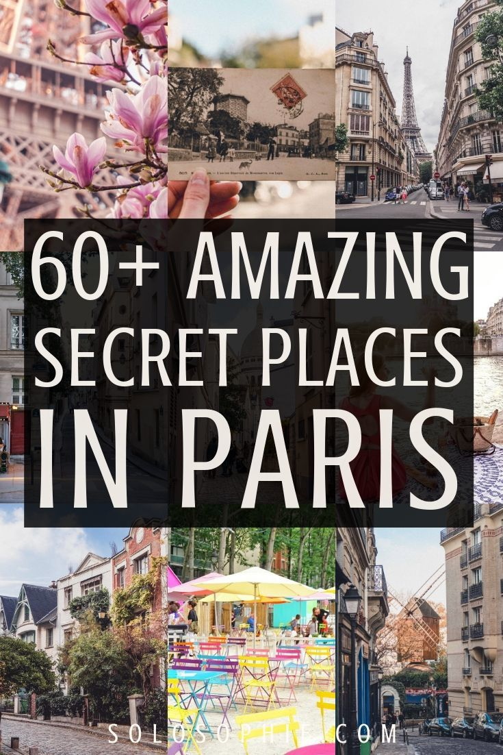 In search of the best of secret Paris? Here's your ultimate guide to Paris hidden gems and unusual things to do in the French Capital city of Paris, France