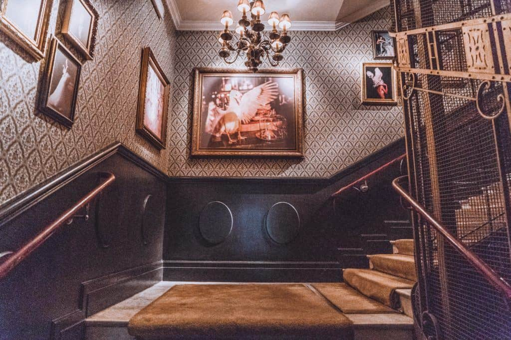 plush staircase of the centrally located Hotel Pigalle in Gothenburg, Sweden