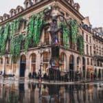 Louis Vuitton Christmas Tree in Paris, Place Vendôme Façade