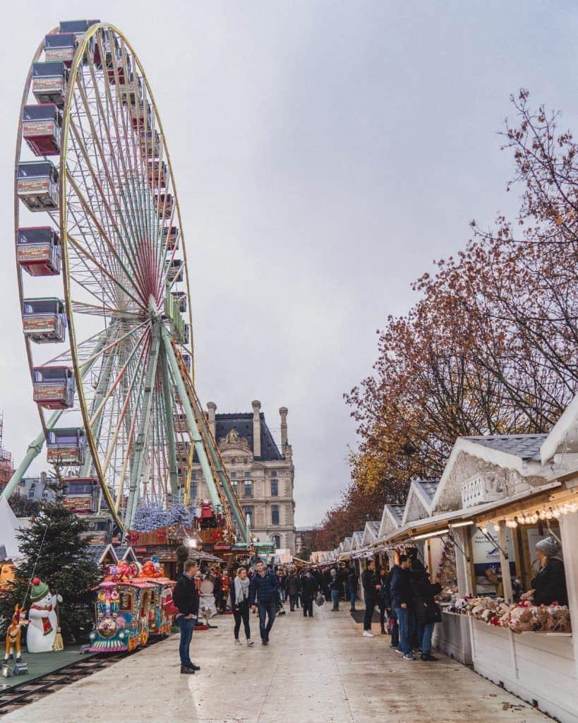 Jardin des Tuileries Christmas Market in Paris