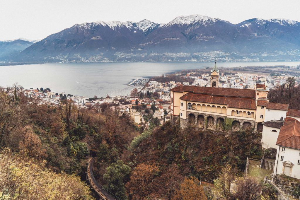 Madonna del Sasso Monastery, Church, and Sanctuary, Ticino, Switzerland (Orselina, Locarno): Is this the most beautiful sanctuary in Europe, and a look at amazing Swiss Lago Maggiore architecture.