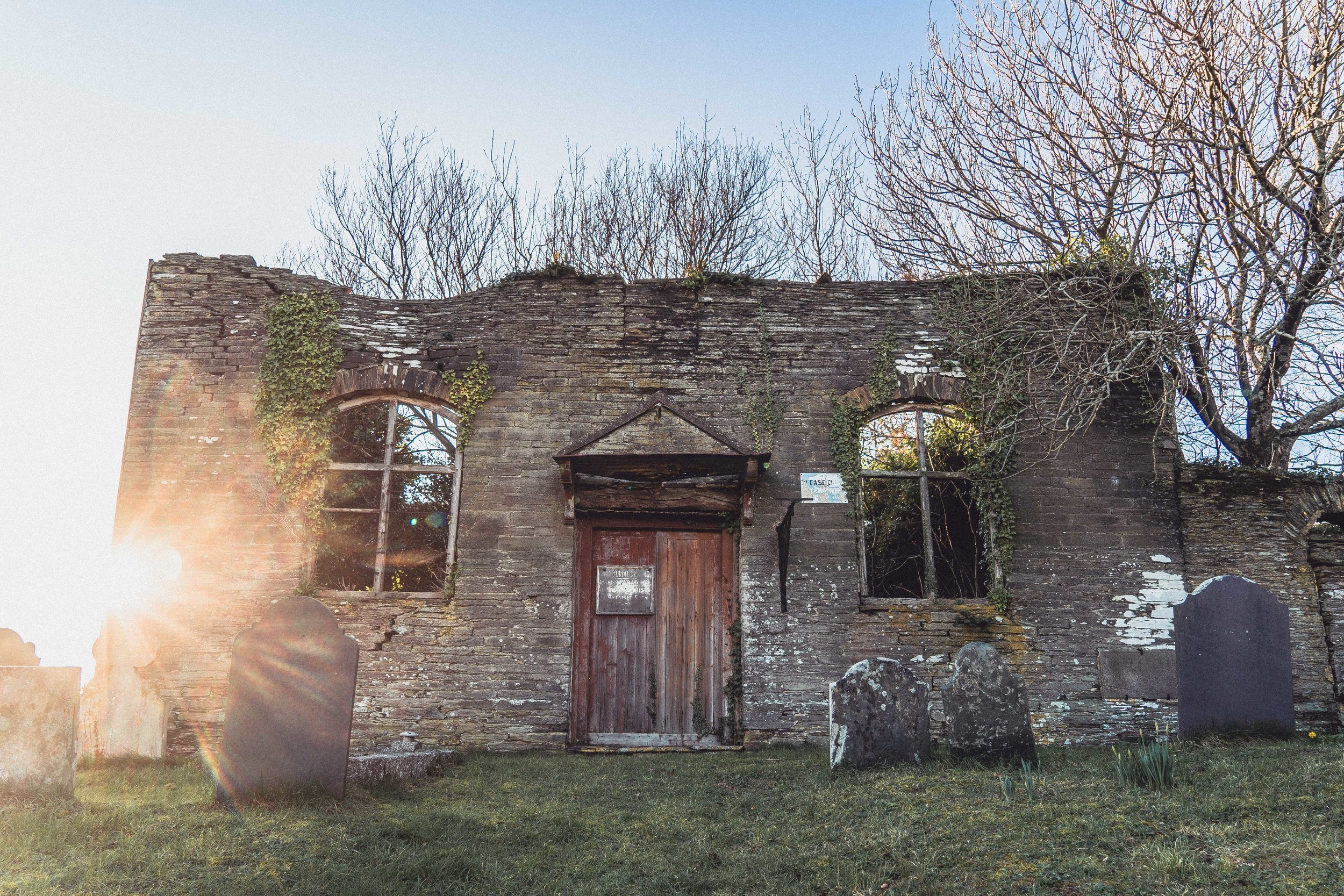 Exploring the Ruins of an Abandoned Chapel at Ford, South Hams, South Devon, England