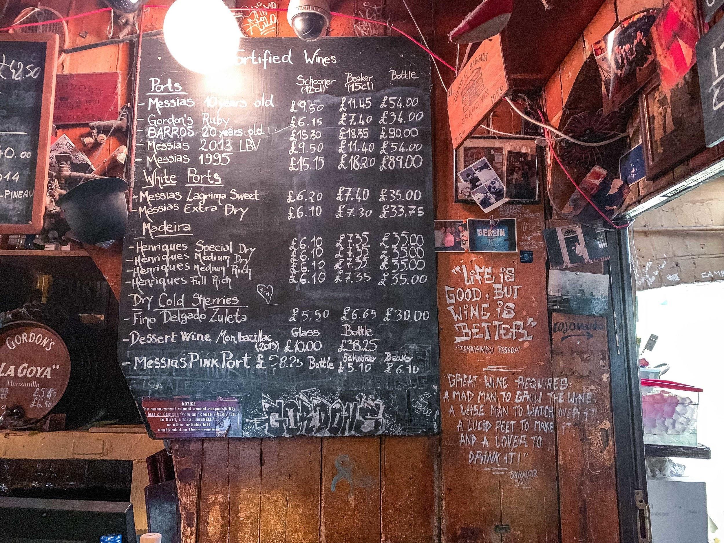 Gordon's Wine Bar: Wine in London's Candlelit Vaulted Cellar near Embankment, London, England