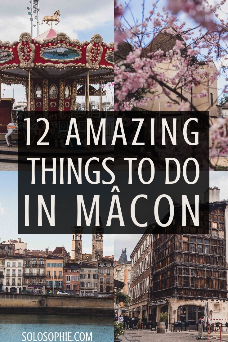 12 amazing things to do in Mâcon, France. Here's a guide for what to do in the beautiful secret city of Macon in Burgundy (museums, ancient churches, cherry blossoms)