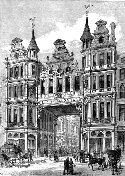 Leadenhall Market print of London