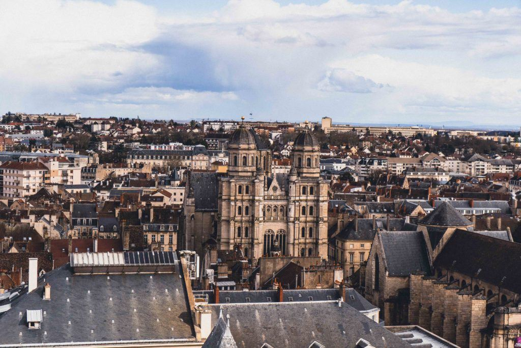 Burgundy architecture, as seen from the tower of Dijon in France