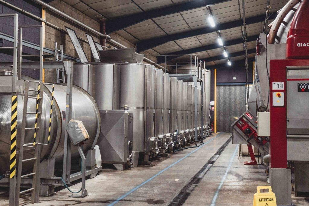 a peek inside the cassissium factory of creme de cassis in Nuits st Georges