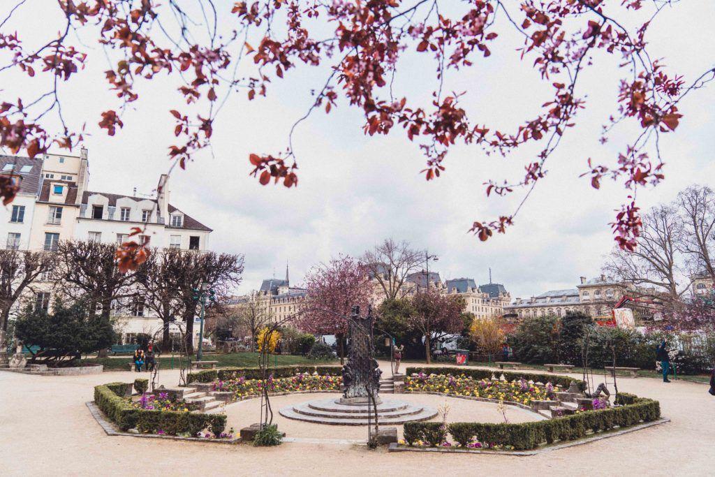 Square René-Viviani: A Parisian Park on a Former Cemetery in the Latin Quarter, Paris, France