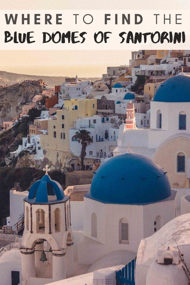Looking for the blue domes of Santorini? Here's your guide to one of the most beautiful photo spots in Oia and Instagrammable locations in Santorini, Greece