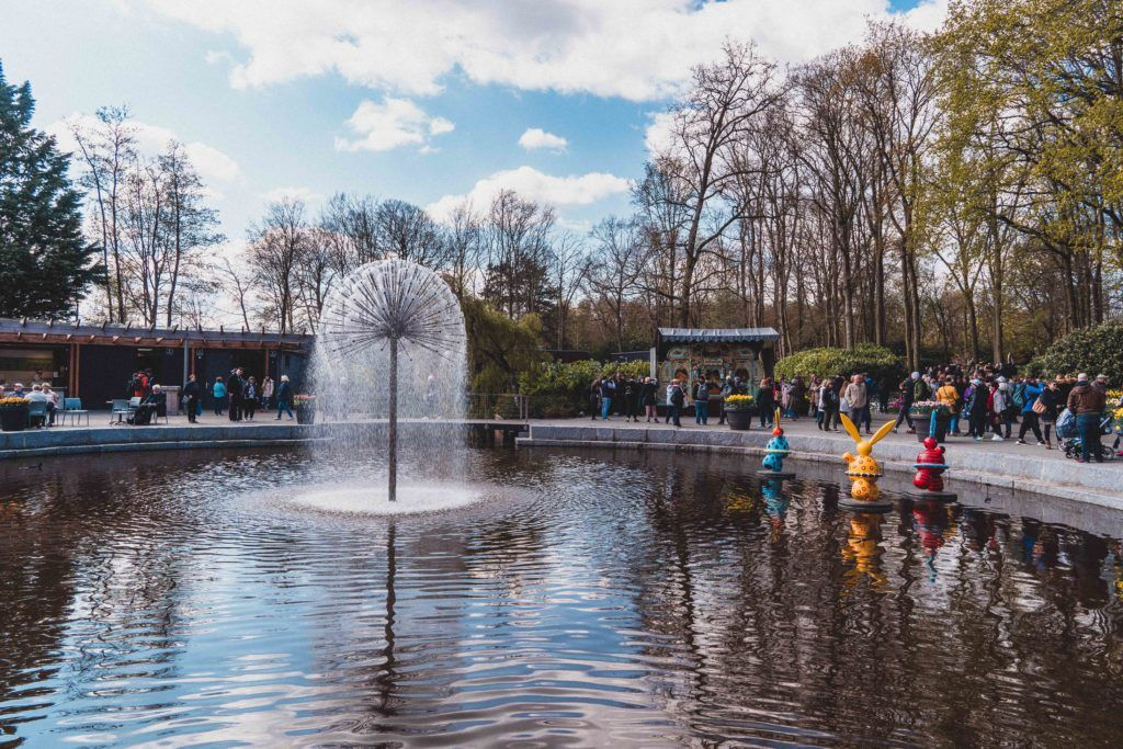 Irene fountain, An Insider's Guide on How to Visit Keukenhof, the Garden of Europe in the Netherlands