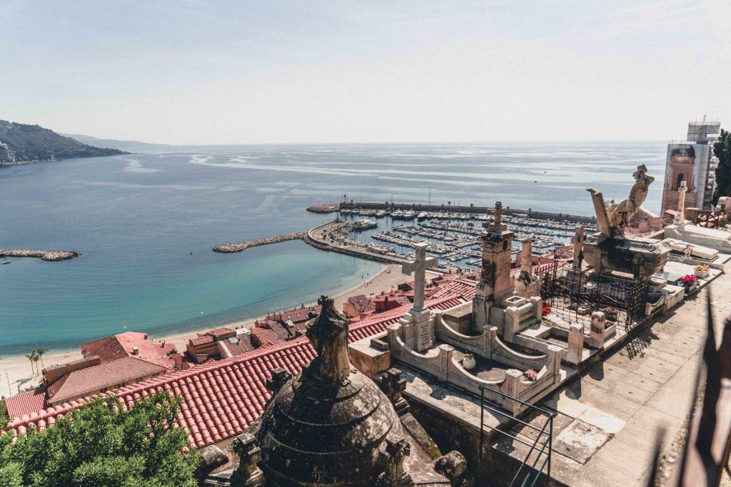 Menton cemetery viewpoint in South of France