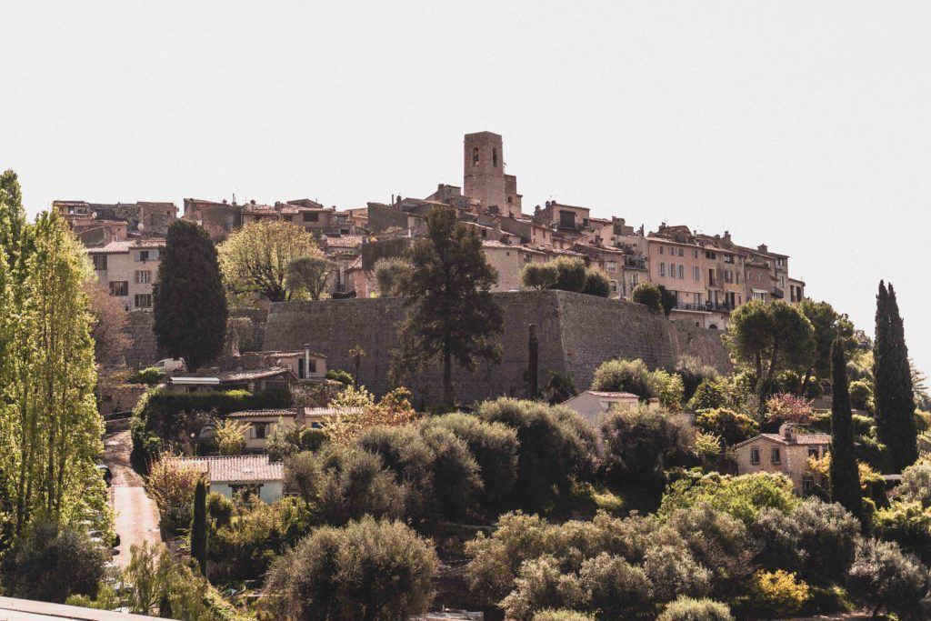 Saint Paul de Vence skyline as seen from a vantage point
