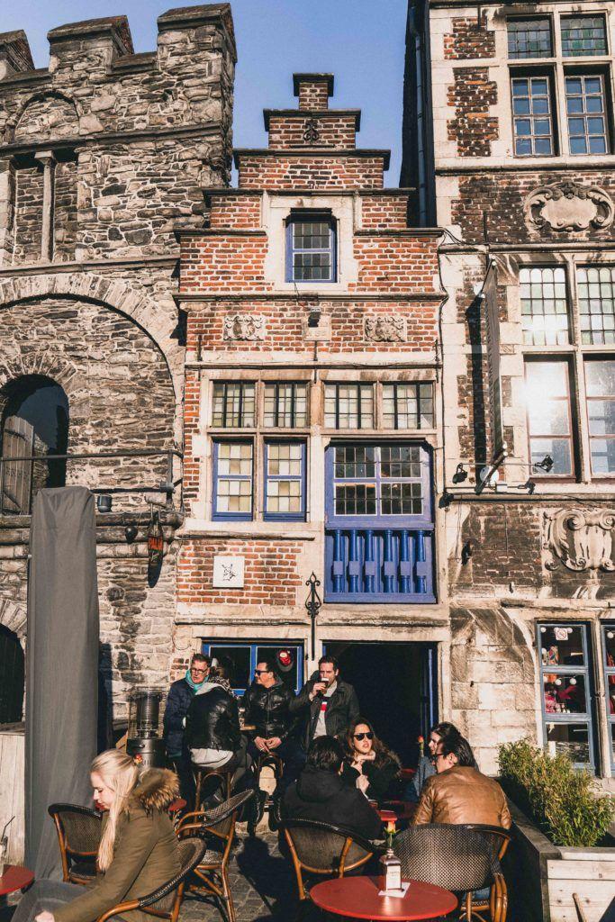 Frequent, 't Galgenhuis, the Smallest Bar in Ghent, Belgium