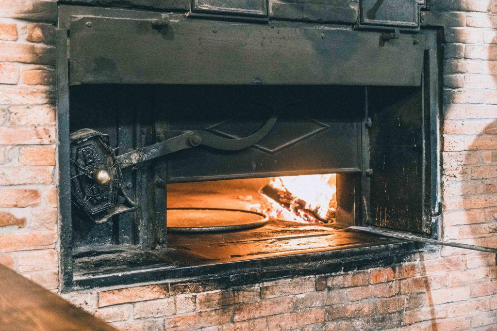 Socca oven in Nice, France