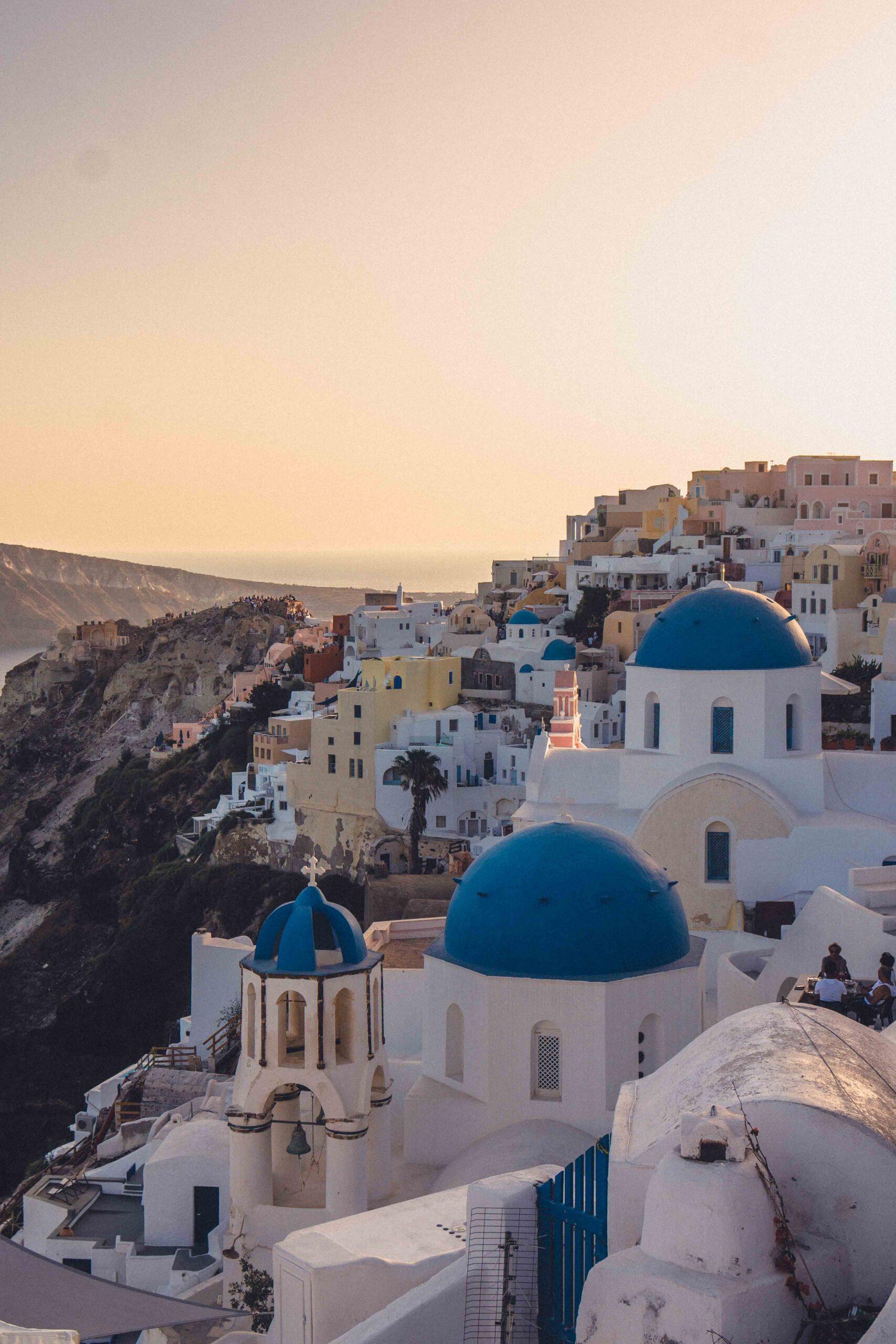 Where to Find the Blue Domes of Santorini (Anastasi Church) in Oia, Santorini, Greece