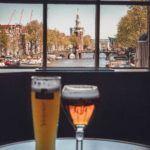 Enjoying Bitterballen & A Beer at Cafe de Sluyswacht in Amsterdam, the Netherlands