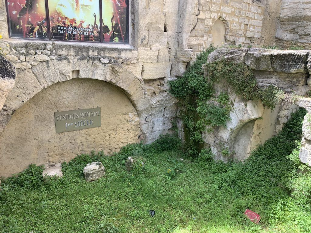 La Place de la Mirande Roman Ruins in Avignon