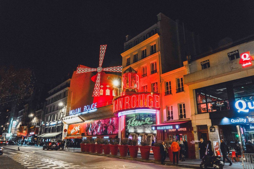 Watch a cabaret or traditional show at the Moulin Rouge in Pigalle
