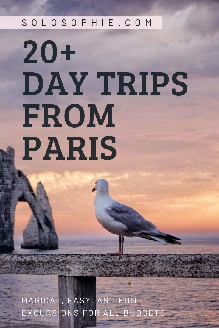 Looking for the best day trips from Paris? Here's your guide to the best of excursions, guided tours, and escapes from the French capital. Included are train trips from Paris, experiences, and lots of pretty French destinations