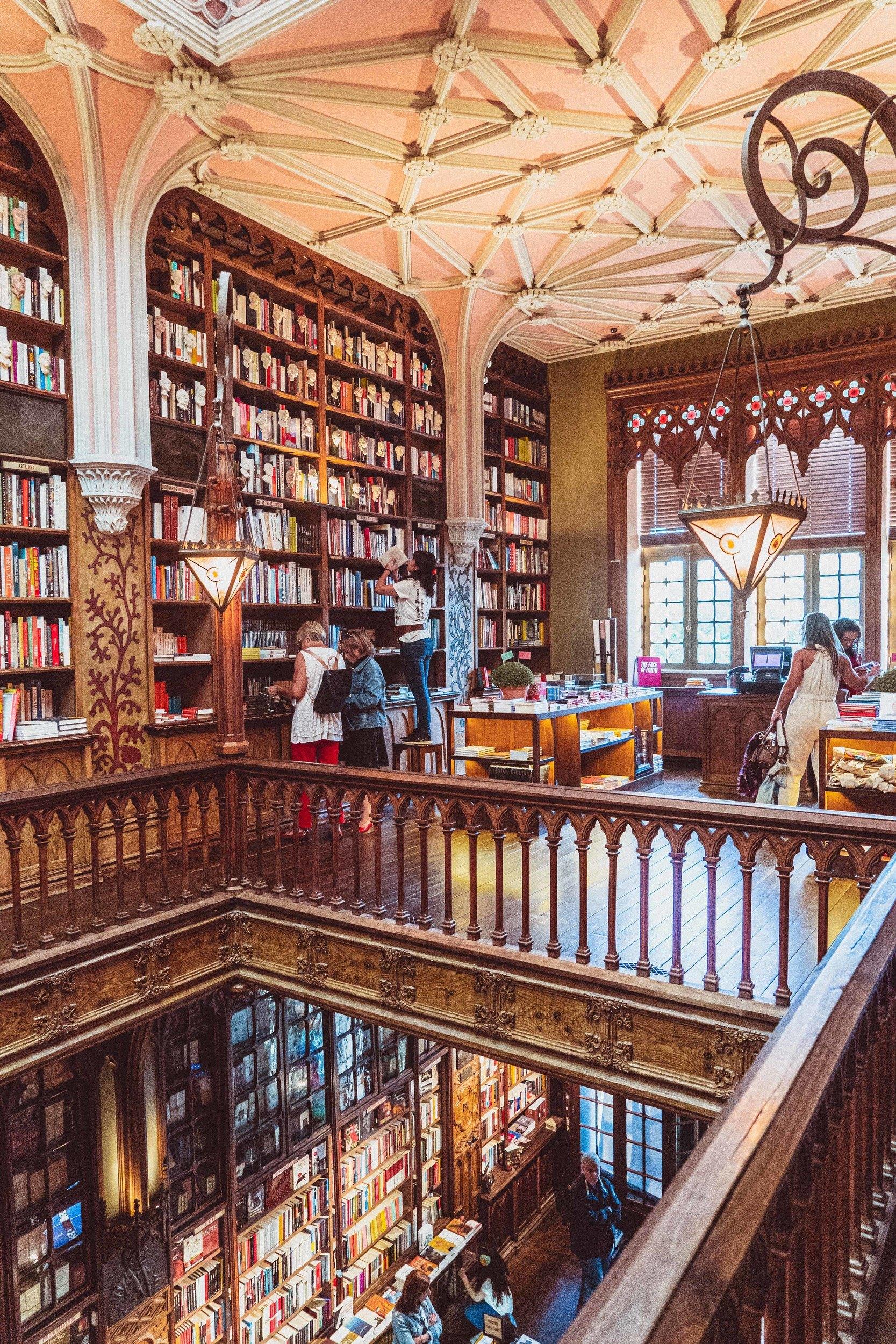 lello bookshop interior, porto, portugal