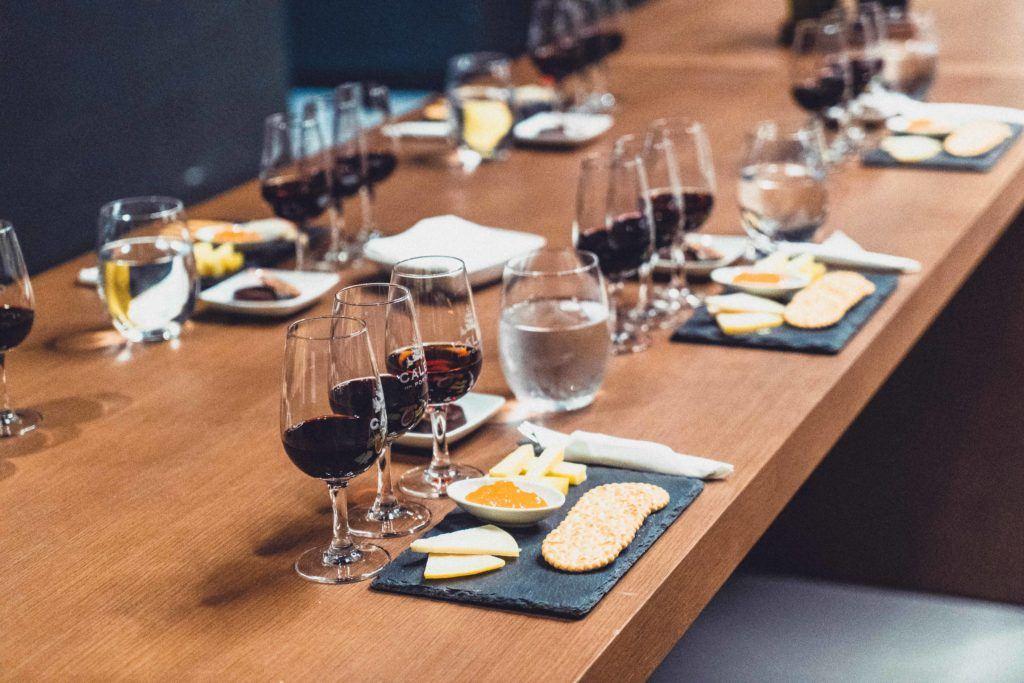 Port wine tasting in a traditional cellar in Porto