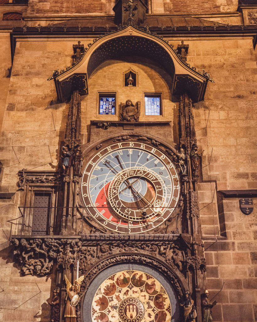 Nighttime, How to Visit Prague Astronomical Clock, Czech Republic