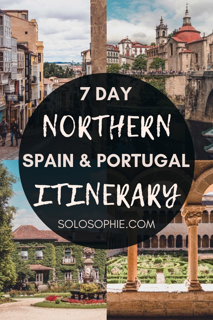 Here's your ultimate guide to the best of seven days (one week) of beautiful places to visit in Northern Spain and must-see Northern Portugal