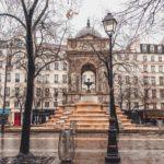 Fontaine des Innocents & Cimetière des Innocents in the 1st arrondissement of Paris, France