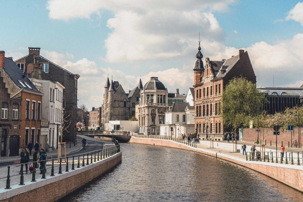 The canals and waters of Ghent are stunning