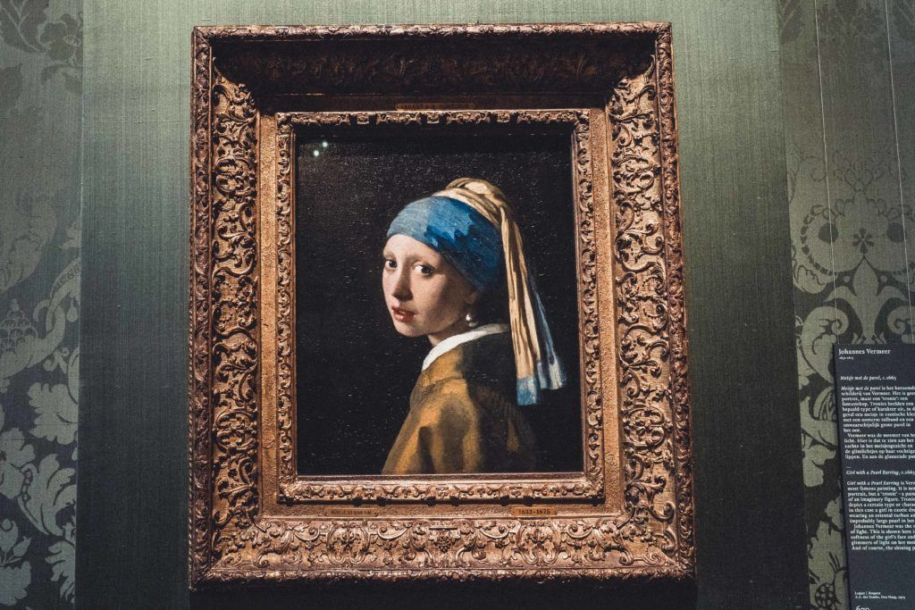 The Girl with the Pearl Earring in Mauritshuis the hague, the Netherlands