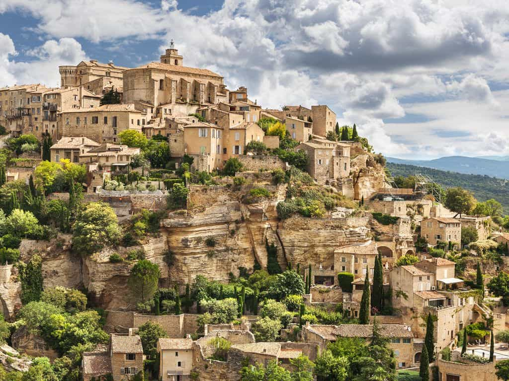 gordes town view Provence, France