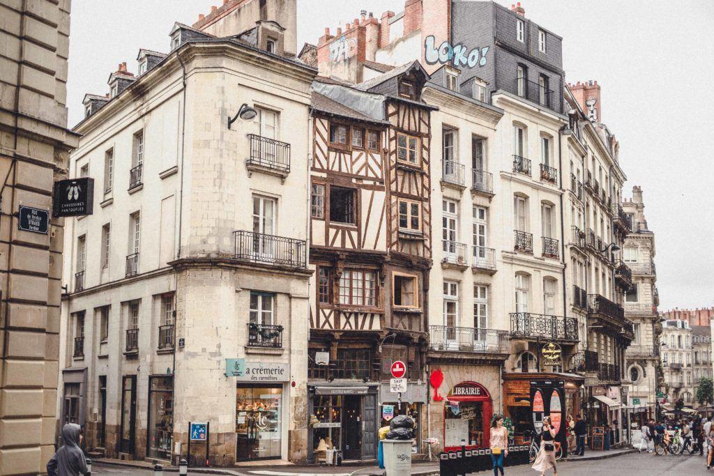Nantes timber-frame houses, Western France