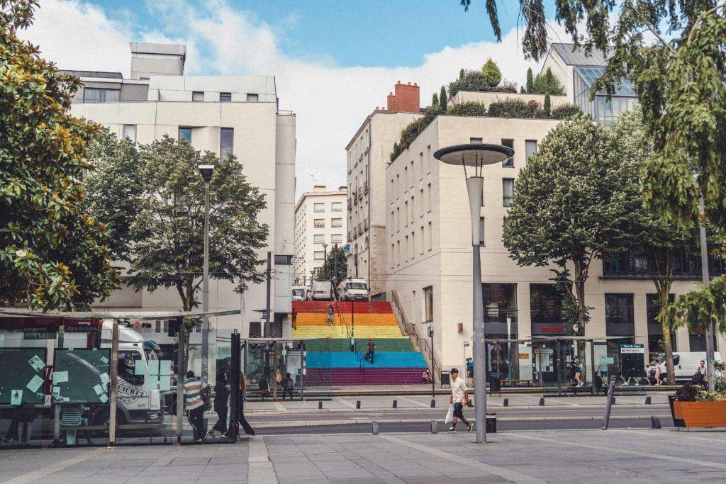 Rainbow Steps of Nantes, France