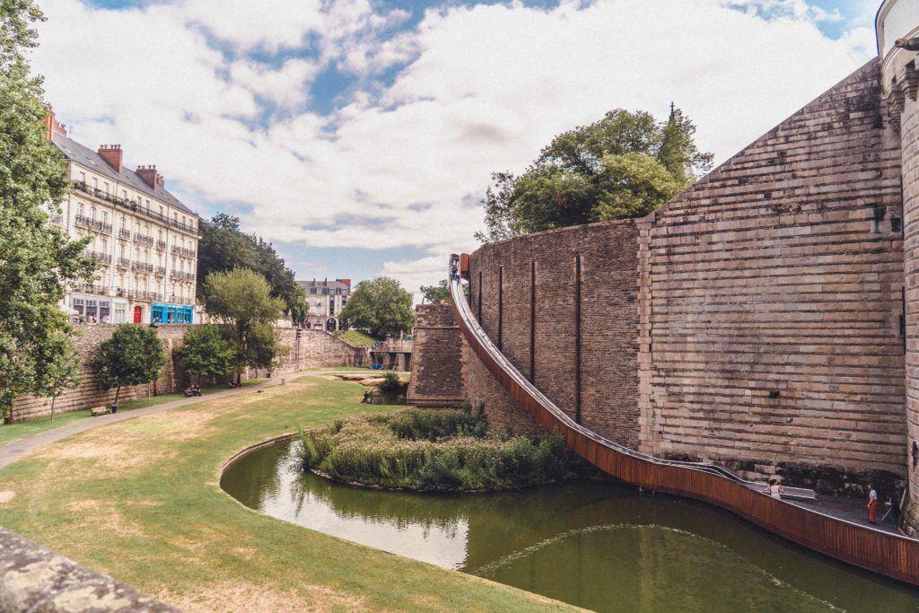 Slide down Nantes Ducal Palace ramparts