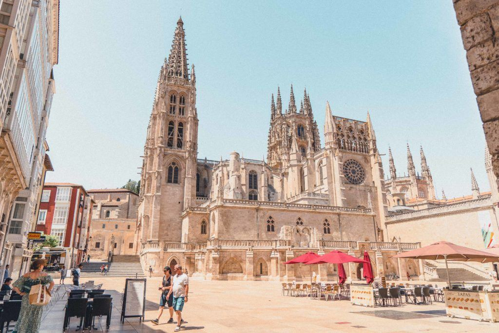 View of Burgos Cathedral in Spain