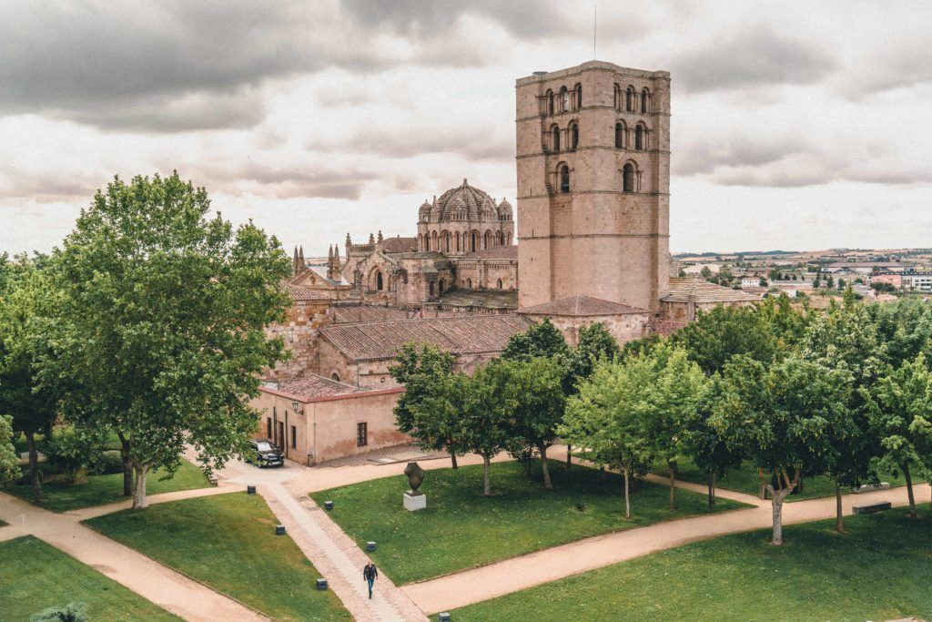 View of Zamora Cathedral from the Castle of Zamora