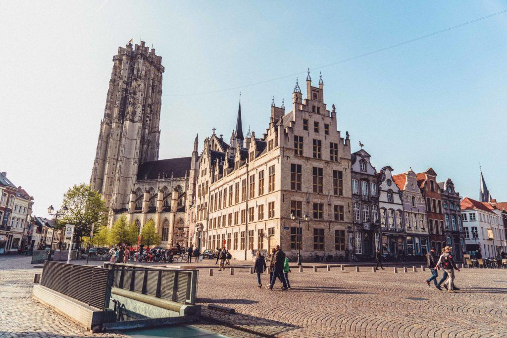 Mechelen main town square