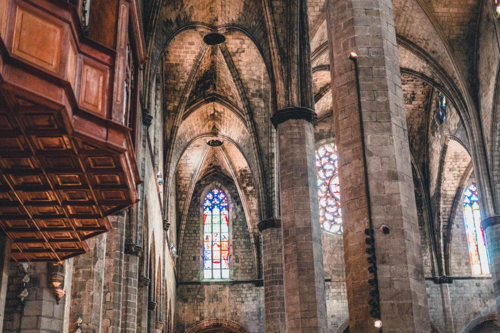 Basilica de Santa Maria del Mar (Basilica of Saint Mary of the Sea), Barcelona, Spain