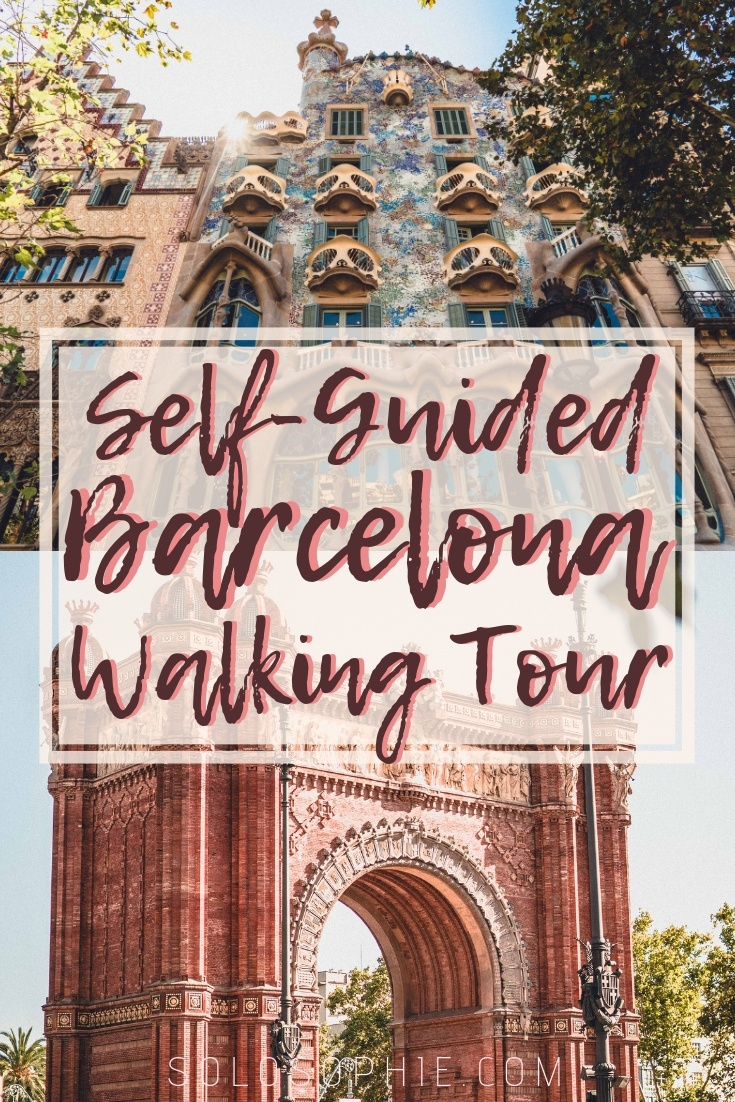 Free & Self-Guided Barcelona Walking Tour, Spain, Europe. Highlights of the Catalonia capital including the Sagrada Familia, Gaudi architecture, and the best foodie spots in Barcelona