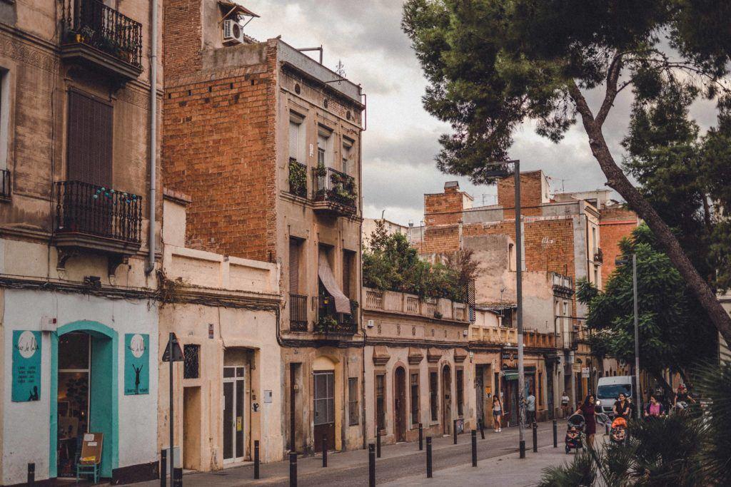pretty street in Barcelona