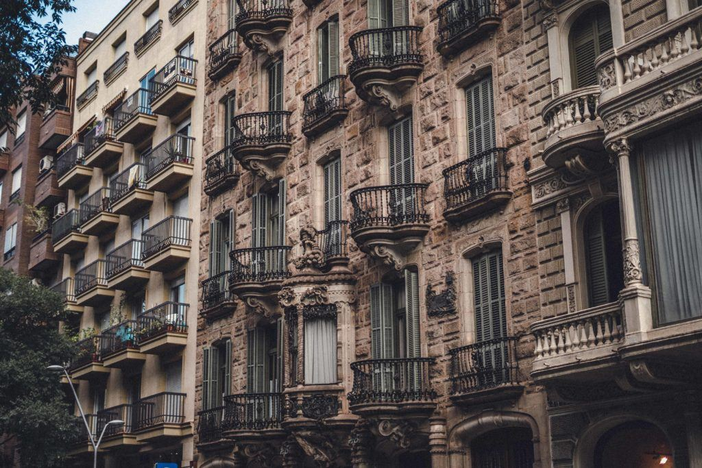 Gaudi architecture in Spain