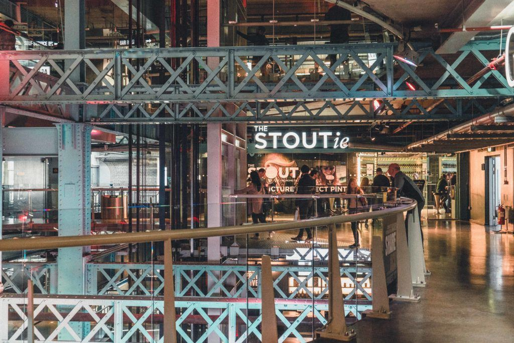 Drink beer at the Guinness Storehouse