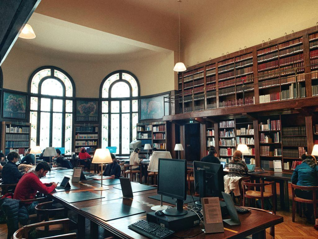 Salle de Lecture (Readers Room), Carnegie Library, Reims, France