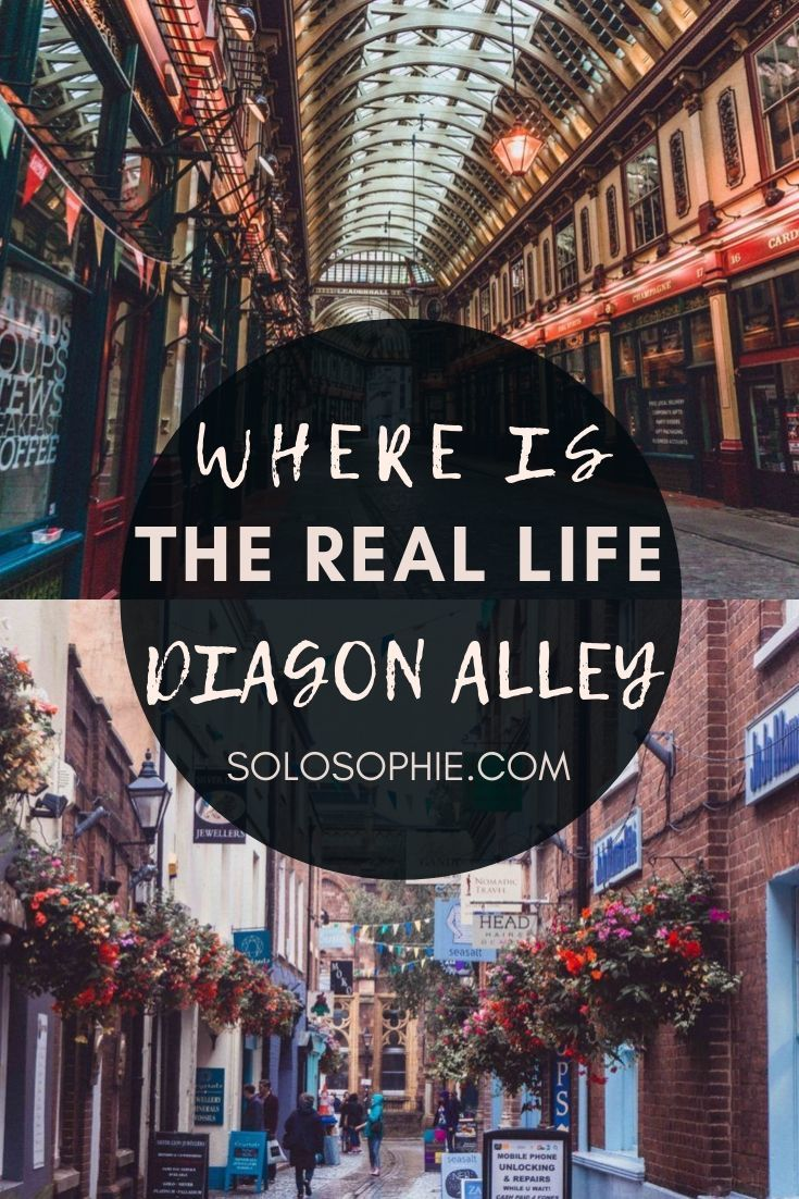 Where is Diagon Alley? Real life Harry Potter Streets in the UK. Magical Wizarding destinations in England and Scotland (Edinburgh, London, York))