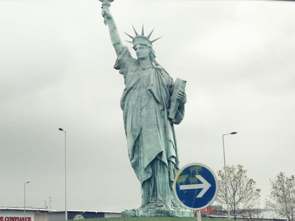 Statue of Liberty in Colmar, Alsace, France