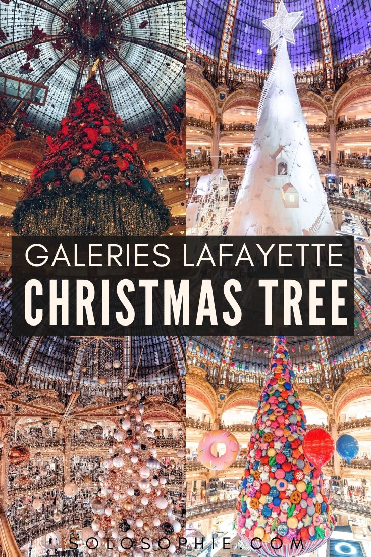 Galeries Lafayette Christmas Tree: Festive Season in Paris if you're looking for the best of festive decorations in the city of light, Paris, France