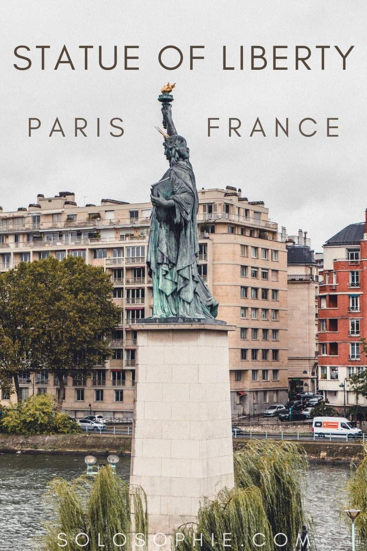 How to See the Paris Statue of Liberty, Pont de Grenelle/ Ile aux Cygnes, Paris, France
