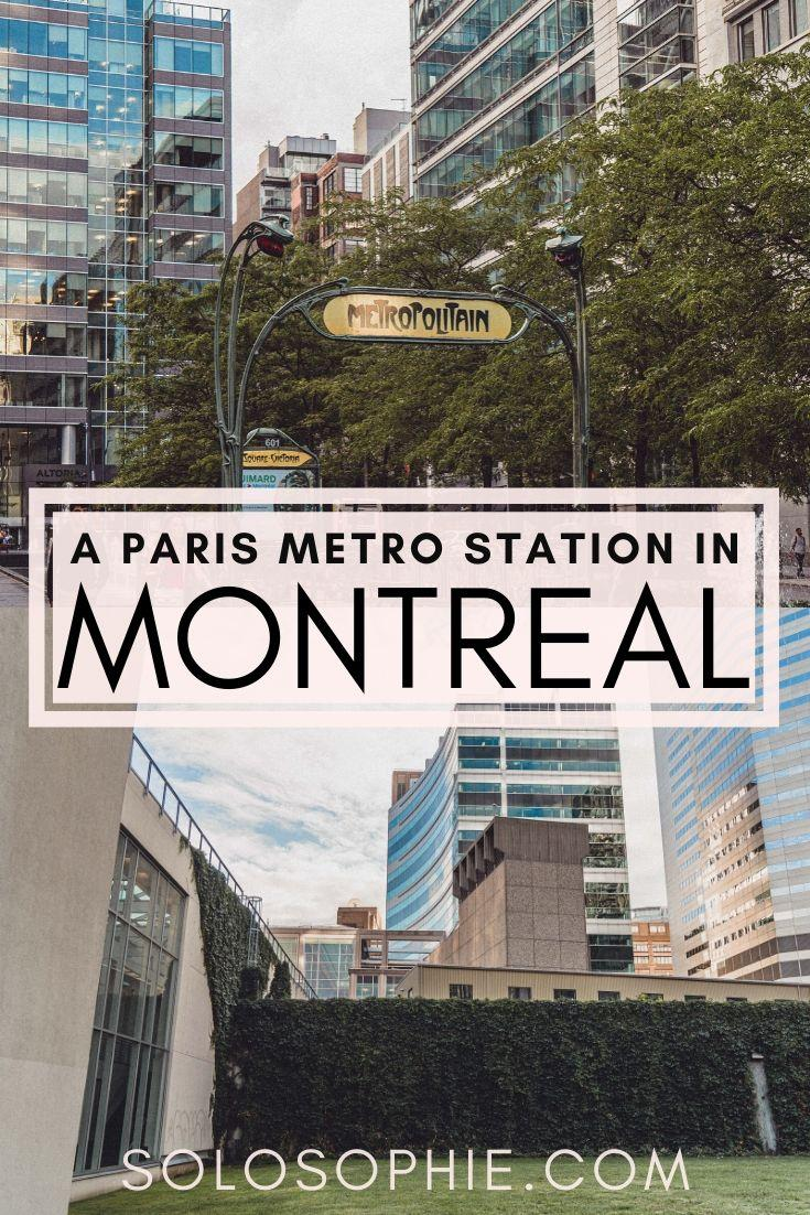 Square-Victoria-OACI station Metro Station Entrance: A Piece of Paris in Montreal Quebec Canada