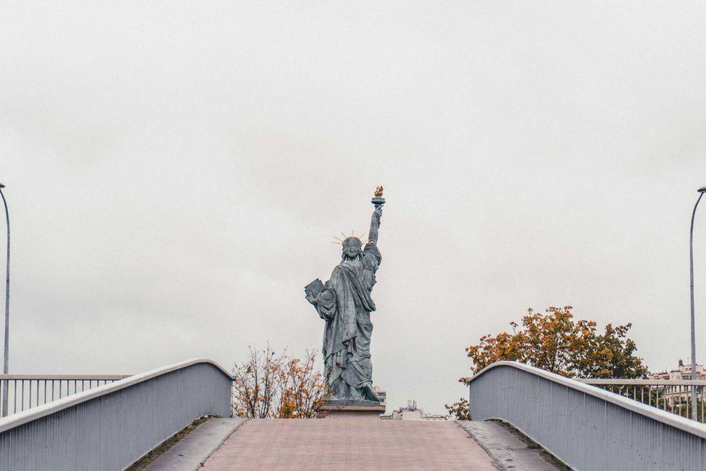 How to See the Paris Statue of Liberty, Pont de Grenelle, 15th arrondissement, Paris, France